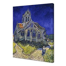 Wieco Art Church at Auvers Giclee Canvas Prints Wall Art by
