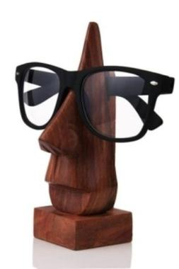 Classic Hand Carved Rosewood Nose-Shaped Eyeglass Spectacle