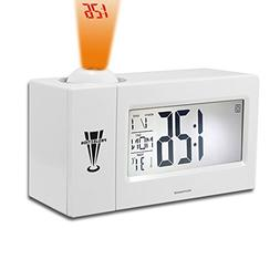 Digital Clock, Binwo Bedside Time Projection Alarm Clock wit