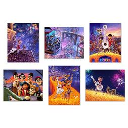 Coco  Art Prints - Set of Six Pixar Mexican Dia de Muertos D