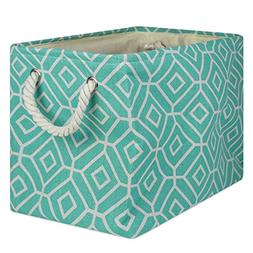 DII Collapsible Polyester Storage Basket or Bin with Durable
