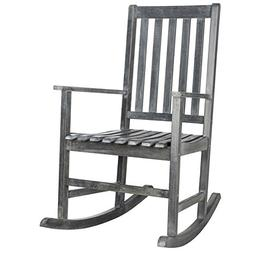 Safavieh Outdoor Collection Barstow Ash Grey Rocking Chair