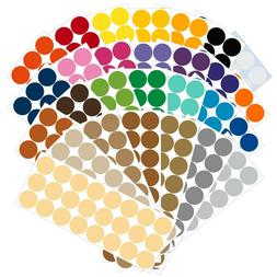 Color Coding Dot Labels, 1 inch Round Stickers, 24 pack, Per
