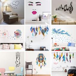 Colorful Wall Stickers Vintage Home Office Decor Removable V