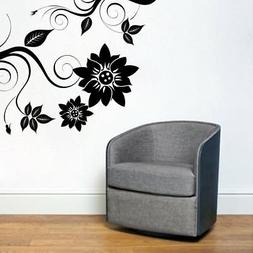 corner swirl wall sticker removable decal home
