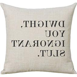 Cotton Linen Throw Pillow Case The Office Dwight, You Ignora
