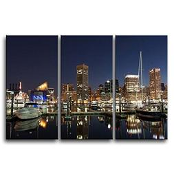 So Crazy Art 3 Pieces Wall Art Painting Baltimore Harbor At