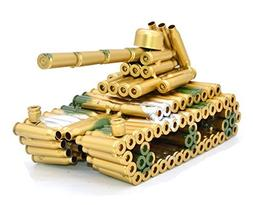 Creative Army Tank Model Made of Bullet Shell Casings Shaped