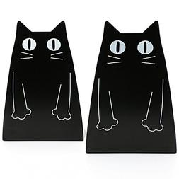 Tobson Cute Cat Heavy Duty Bookend Nonskid Bookends Art Deco