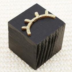 Cute Solid Wood Cube Eyelash Cube Decoration Home Room Offic