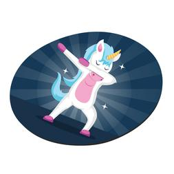 Cute Unicorn Round Mouse Pads Anti Slip Rubber Gaming Mousem