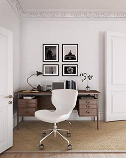 ELLE Décor Madeline Hourglass Task Chair in Cream