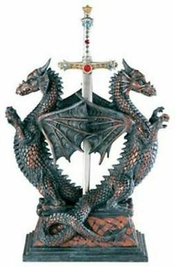 Dbl Dragon Letter Opener - Collectible Figurine Office Decor
