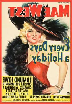 Decor POSTER.Office Home room Art Design.Mae West movie.Fash
