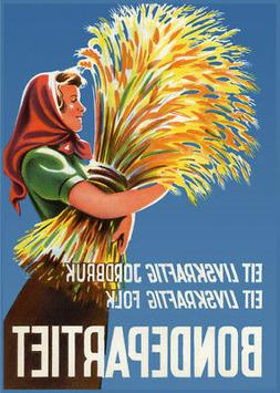 Decor POSTER.Office Home room Art Design.Norway Farmers Part