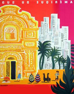 Decor POSTER.Office Home room Art Design.South America.Frenc