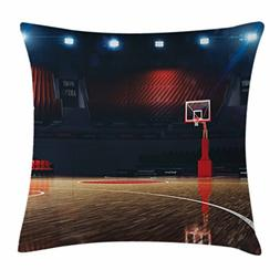 Ambesonne Sports Decor Throw Pillow Cushion Cover, Picture o