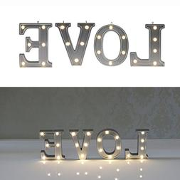 Decorative Illuminated Marquee Word Sign  - Lighted Letter W