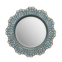 Stonebriar Decorative Metal Lace Mirror with Attached Wall H