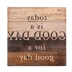 NIKKY HOME Decorative Inspirational Wooden Wall Art Quote Si