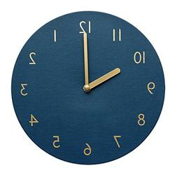 thehaki Decorative Wall Clock Silent & Non-Ticking Quartz Cl