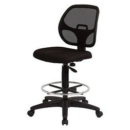 "Office Star Deluxe Mesh Back Drafting Chair with 18.5"" Diame"