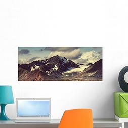 Wallmonkeys Denali Highway Wall Mural Peel and Stick Graphic