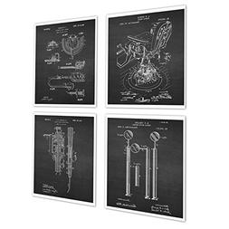 Dental Office Decor set of 4 Dentistry Patent Art Prints by