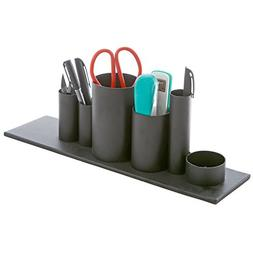 MyGift Desk Organizer, 6 Cylindrical Compartment Office Supp