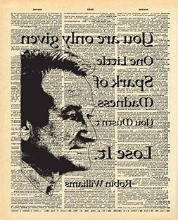 Dictionary Print, Robin Williams, One Spark of Madness Quote
