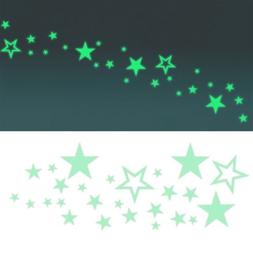 DIY Luminous Wall Stickers Star Butterfly Home Office Wall D