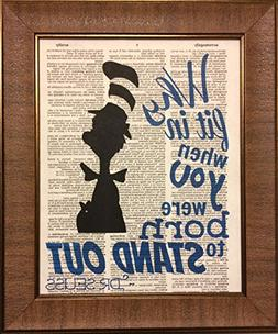 Ready Prints Dr. Seuss Quote Dictionary Book Page Artwork Pr