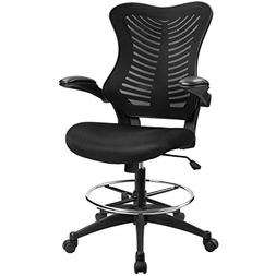 Furmax Drafting Office Chair Height Adjustable Swivel Mesh R