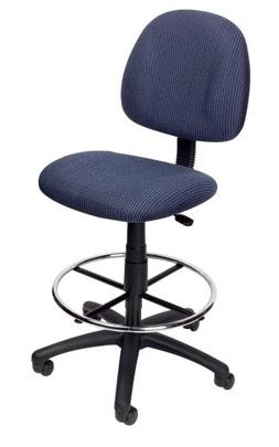 Boss Drafting Stool with Footring Blue/Without Adjustable Ar
