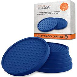Large Drink Coasters - Absorbs Moisture and Prevents Table D