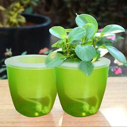 Easy Self Watering Plant Flower Pot Planter Container Home G