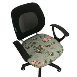 Elastic Office Chair Seat Cover Decorative Swivel Chair Seat