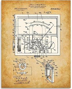 Electrical Meter 1919-11x14 Unframed Patent Print - Great Gi