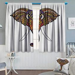 Chaneyhouse Elephant Mandala Thermal Insulating Blackout Cur