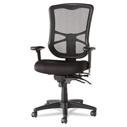 Alera Elusion Series Mesh High-Back Multifunction Chair, Bla