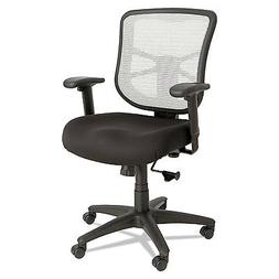 Elusion Series Mesh Mid-Back Swivel/Tilt Chair, Black/White