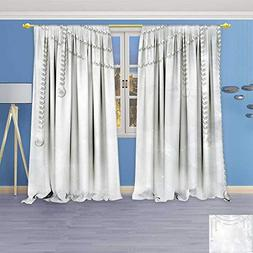 Philiphome Embossed Thermal Weaved Grommet Blackout Curtains