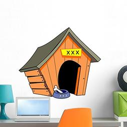Wallmonkeys Empty Dog House Wall Decal Peel and Stick Graphi