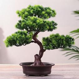 Artificial Fake Green Bonsai Plant Guest Greeting Pine Tree