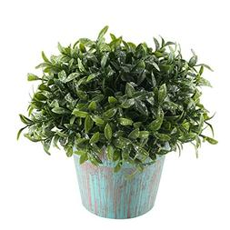 GTIDEA Fake Potted Plants Artificial Topiaries Greenery Bons