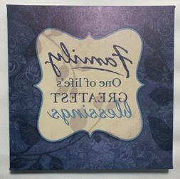 """Family Canvas Wall Hanging Decor For Office Or Home 8.5"""" X"""