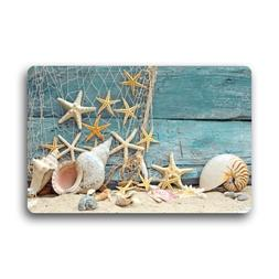 Fantastic Doormat Sea Beach Starfish on Fishing Net Door Mat