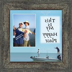 Fishermans Happy Place, Personalized Pictures Frame, Fisherm