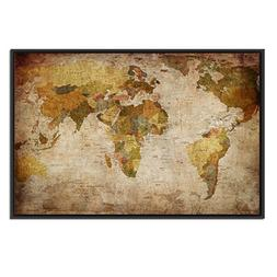 Kreative Arts Large Size Vintage World Map Giclee Canvas Pri