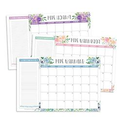 Floral 2019-2020 Large Monthly Desk or Wall Calendar Planner